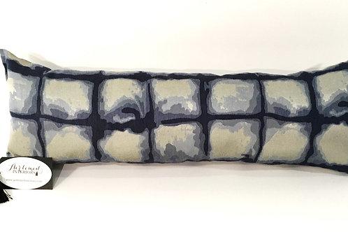 Blue Tie Dyed Lumbar Pillow