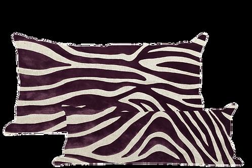 Purple Linen Flock Velvet