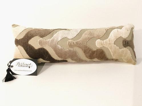 Beige Tone on Tone Lumbar Pillow