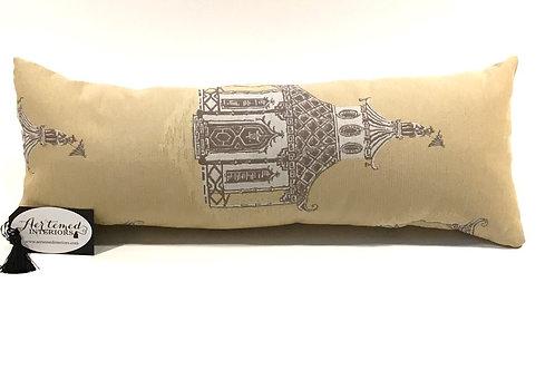 Inspired Yellow Design Lumbar Pillow