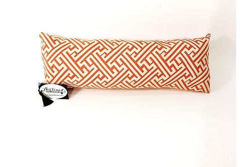 Orange Geometric Lumbar Pillow