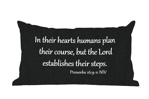 Proverbs 16:9 Phrase Pillow