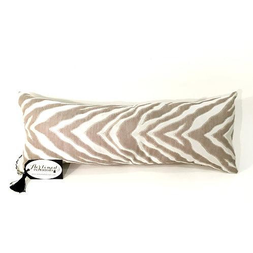 Beige and White Animal Print Lumbar Pillow