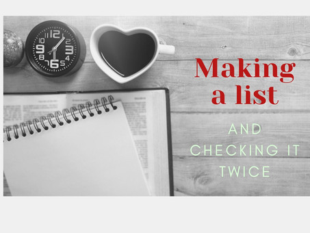 Making a List & Checking it Twice