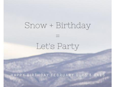 Snow + Birthday = Let's Party!
