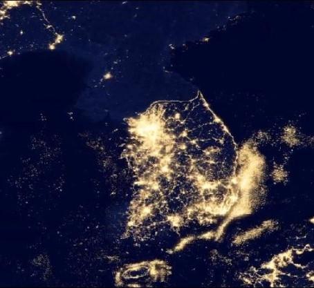 한반도의 밤으로 알 수 있는 잠재의식
