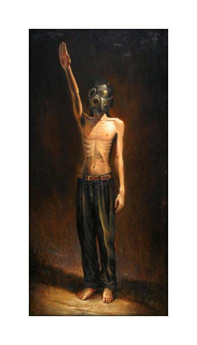 Vasin Suttikasem Size 60x120 cm. Oil color on canvas