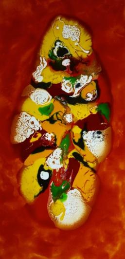 Zdenka PALKOVIC Opulence (2018) 120x60x2.5 cm ~ Peinture,  Toile