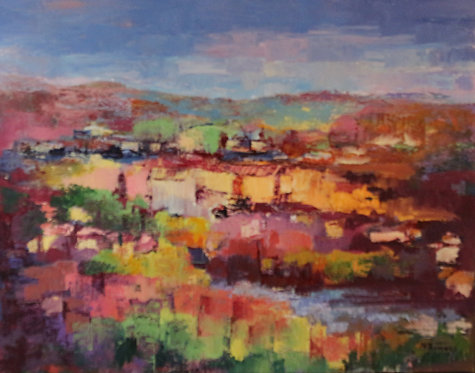 @rtist Michel Thomas -Le puy en velay Oil on Canvas 71X56cm