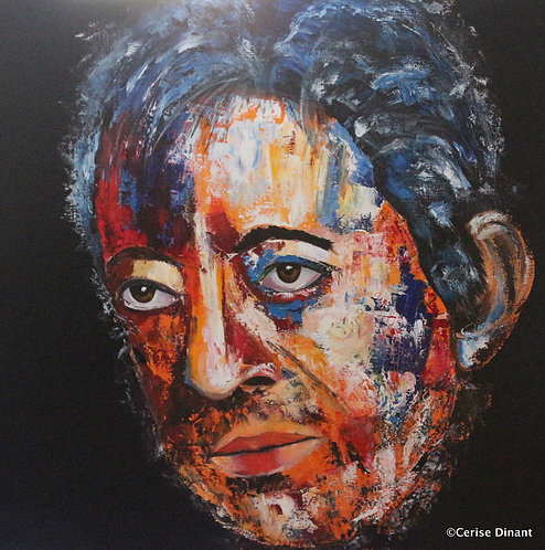 6 -Gainsbourg  Oil on canvas  80 x 80 cm