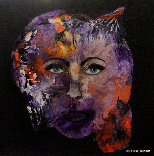 8 -Au delà du monde reel Acrylic on canvas80 x 80 cm