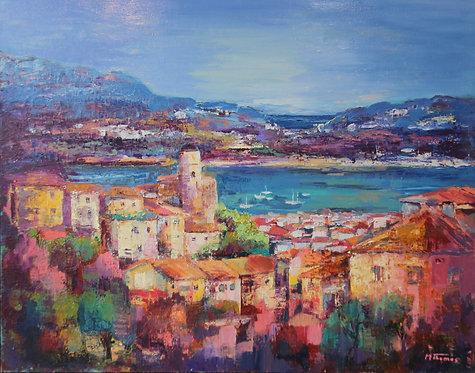 @rtiste Michel-Thomas 1-Menton Oil on Canvas 99X80cm