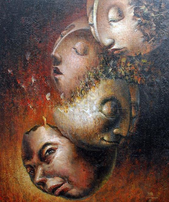 Vasin Suttikasem Size 100*120 cm. Acrylic on canvas