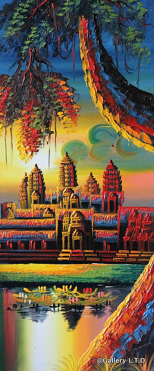 @rtist Vannak Angkor Wat 3 ប្រាសាទអង្គរវត្ត 30X70cm