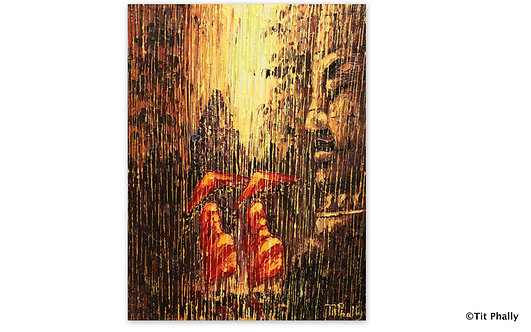 @rtist Tit Phally Rainning Style 40X50 CM oil Canvas