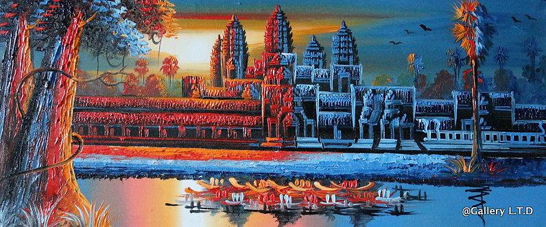 @rtist Vannak Angkor Wat 2 ប្រាសាទអង្គរវត្ត 30X70cm