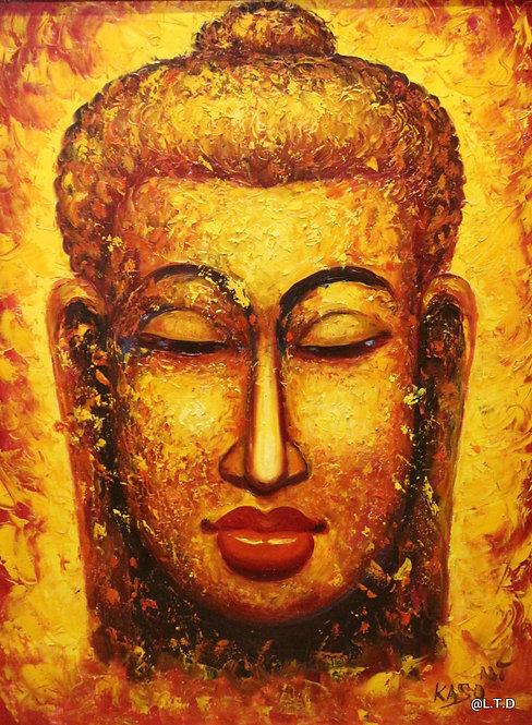 @rtist Kaso Boudha golden  60X80 oil-canvas