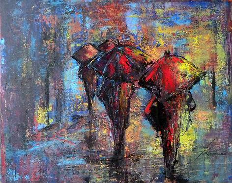 1-Larmes de lumière - 73x60cm  Acrylic on Canvas
