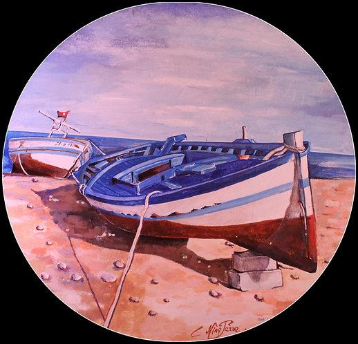 Barques bleues