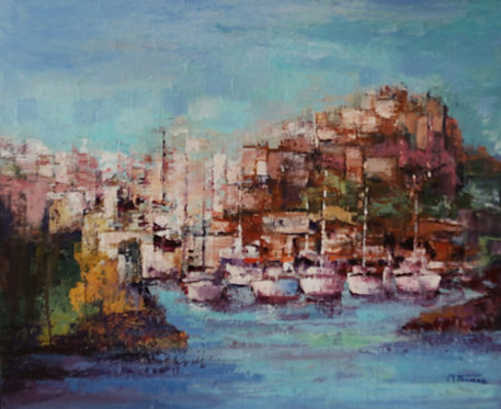 @rtiste Michel-Thomas 4-Les couleurs de L'automne oil on canvas 98X79cm