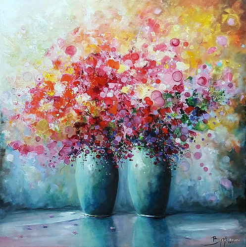 Eric Bruni Flowers of Happiness  Dimensions: 50X50cm