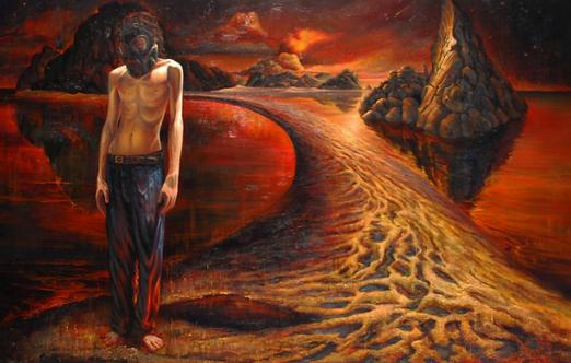 Vasin Suttikasem Size 90*140 cm.  Oil color on canvas