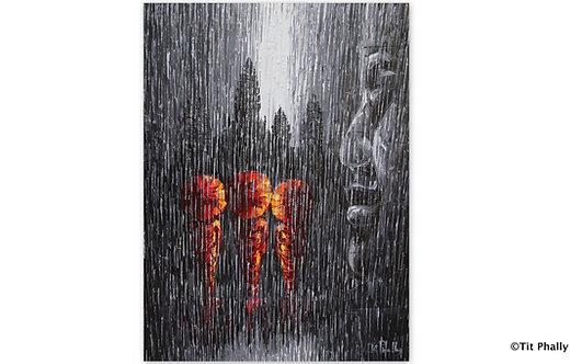 @rtist Tit Phally Rainning Style 60 X80 CM oil Canvas