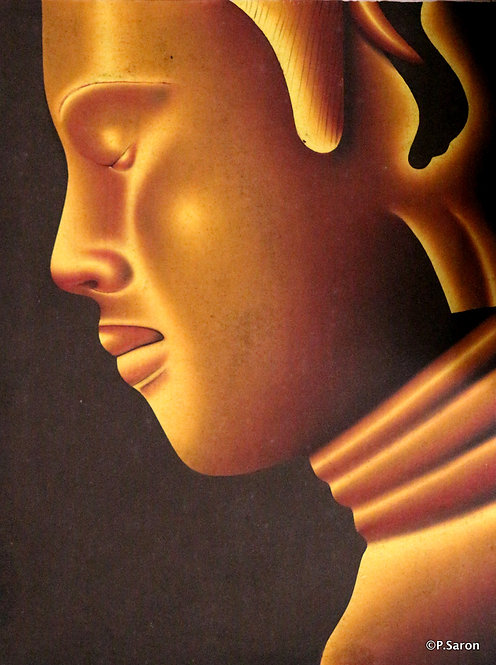 @rtist P.Saron King Yellow 60X80 CM  Oil in Canvas