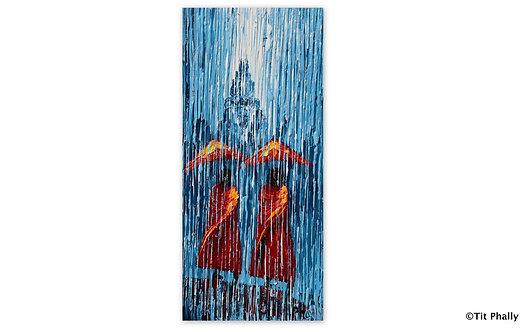 @rtist Tit Phally Rainning Style 20X 40 CM oil Canvas