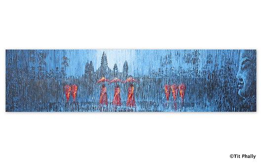 @rtist Tit Phally Rainning Style 150 X40 CM oil Canvas
