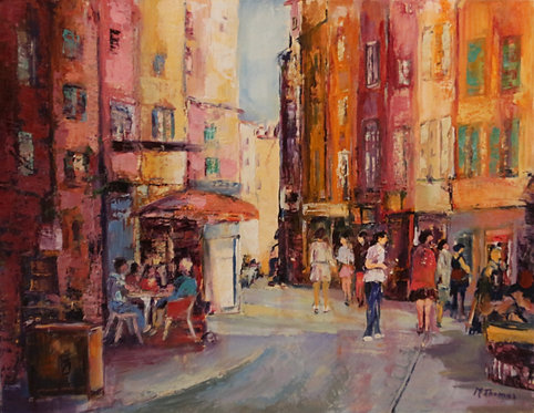 @rtiste Michel-Thomas 5-Le Puy En Velay 71X56cm  oil on canvas