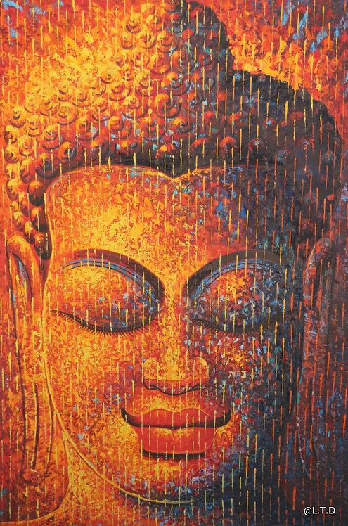 4.Kang Meng   The head of Buddha. 80x120cm.