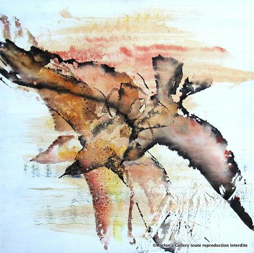 Orange(Oiseaux),80/80 Acrylique/toile