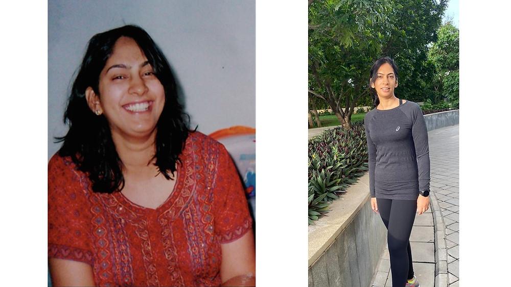 Deepika Chalasani. Transformation - 93 to 65 kilos