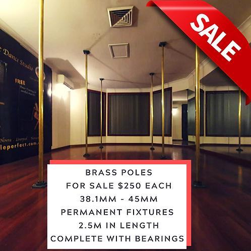 38.1mm  Brass Pole Permanent Fixture