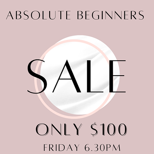 Absolute Beginners $100 Deal Friday 6.30pm 9 Week Pole Course