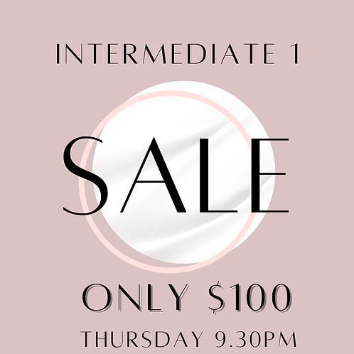 Intermediate 1 $100 Thursday 9.30pm Class