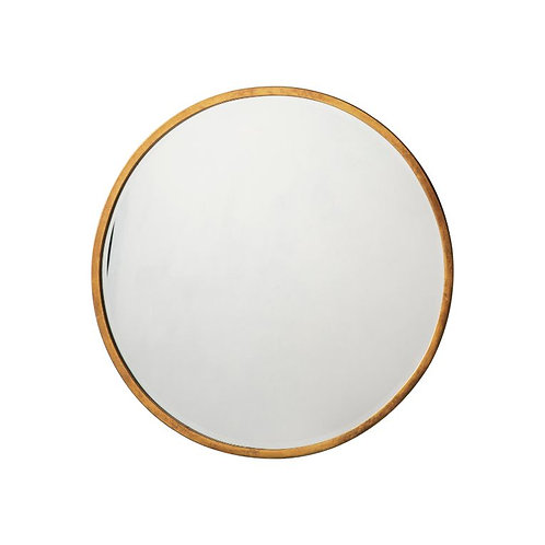 Ashley Small Round Mirror - Antique Gold