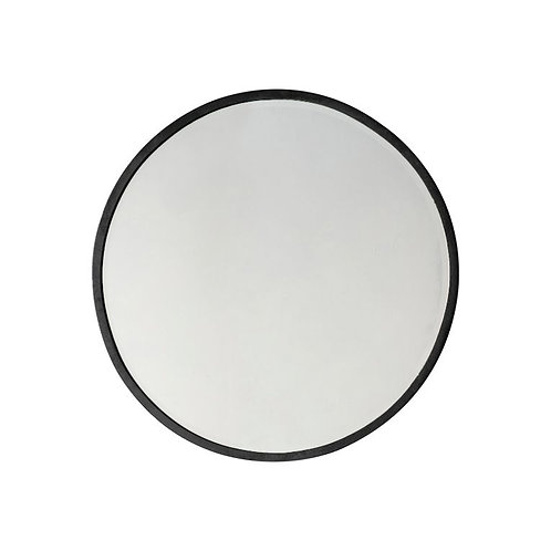 Ashley Small Round Mirror - Black