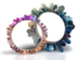 meghan o'rourke, jewellery, titanium, contemporary, anodised, titanium, bracelets