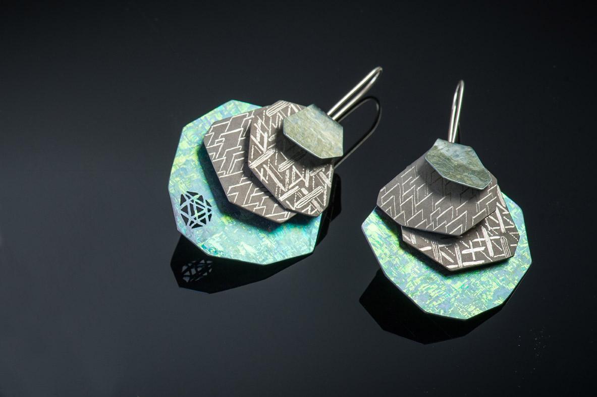 titanium earrings contemporary