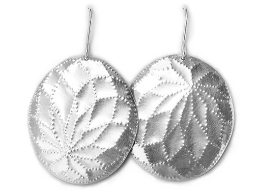 Silver Flourish Earrings