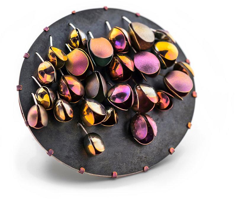 Titanium Jewellery Brooch Meghan O'Rourke pod