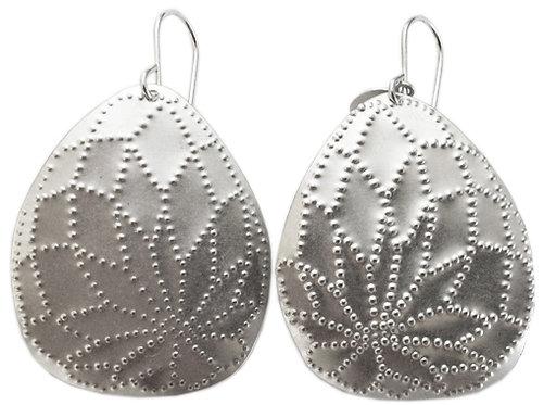 Silver Flourish Earrings