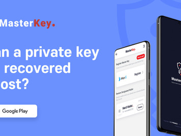Can a private key or mnemonic key recovered if lost?