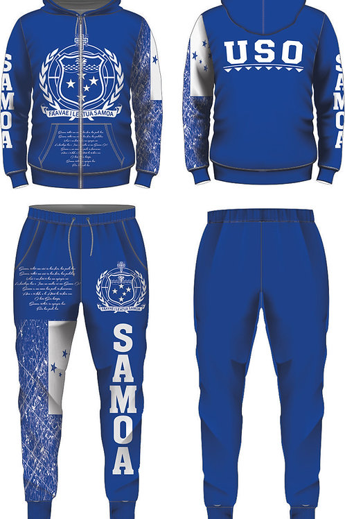 YOUTH SIZES SAMOA BLUE AND WHITE JUMPSUIT