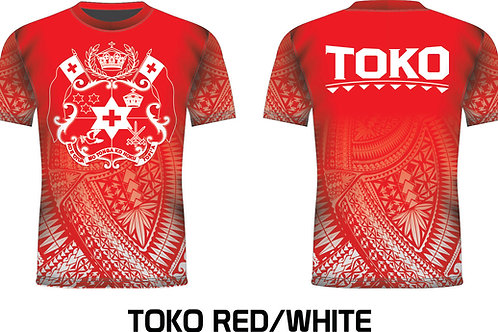 TONGA RED/WHITE DRIFIT SHIRT