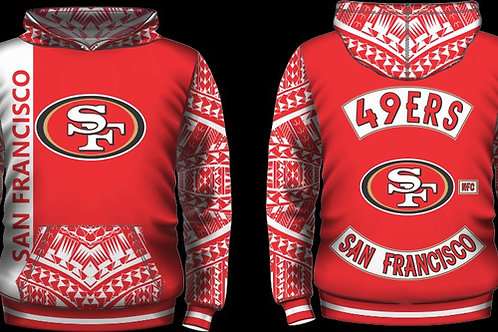 49ER ALL RED DRI-FIT HOODIE