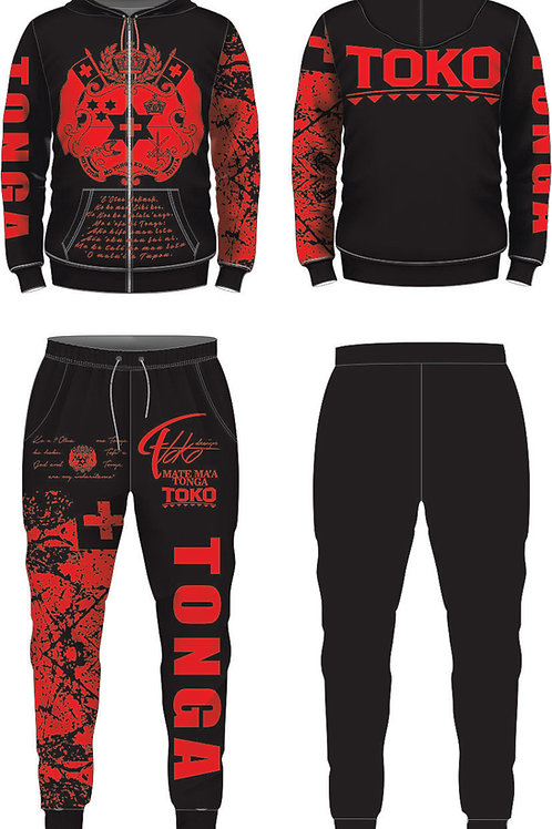 TONGA BLACK AND RED MMT JUMPSUIT