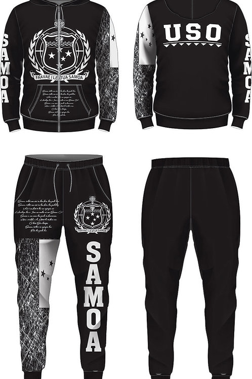 YOUTH SIZES SAMOA BLACK AND WHITE JUMPSUIT